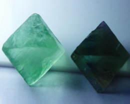 283.70 CT Natural - Unheated Green Fluorite Crystal Lot