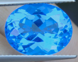 "10.60cts, ""Cobolt Blue"" Topaz,"