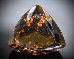 9.81 Crt  Conic Quartz Faceted Gemstone (Rk-91)