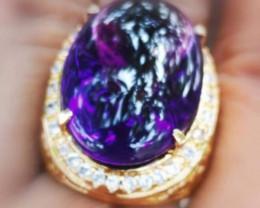 Certf. High Quality amethys Deep Violetish jewelry stone.