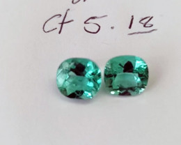 5.18ct Colombian Emerald Pair