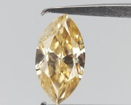 0.12 cts , Natural Fancy Color Diamond , Fancy Shape Diamond