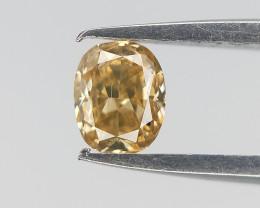 0.11 cts , Brownish Yellow Diamond , Oval Cut Diamond