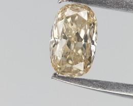 0.11 cts , Elongated Cushion Diamond , Light Yellow Color