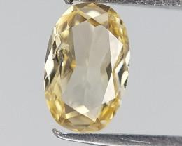 0.16 cts , Elongated Oval Diamond , Yellow Diamond