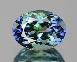 1.70 Cts Amazing Rare Blue Green Color Natural Tanzanite Gemstone