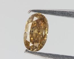 0.09 cts , Deep Champagne Diamond ,  Oval Diamond