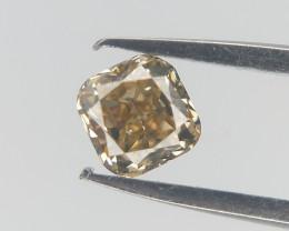 0.14 cts , Brown Diamond , Natural Cushion Cut
