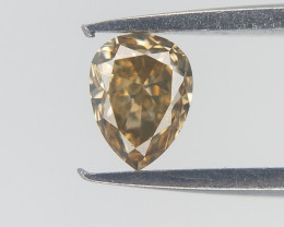 0.16 CT , Pear Cut Diamond , Brownish toned Diamond