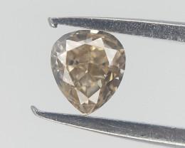 0.11 cts , Light Yellow Diamond , Pear Brilliant cut