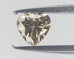 0.09 cts , Pear Modified Brilliant Diamond  , Natural Champagne Color
