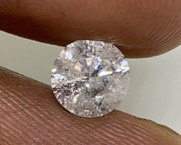 (B) Certified $1855 Fiery 0.82ctes SI3  White Loose Natural Round Diamond