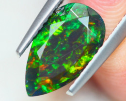 1.02ct Natural Ethiopian Welo Solid Smoked Faceted Opal Lot LZ6935