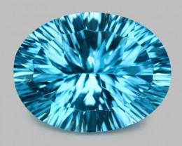 13.10 Cts Fancy Super Swiss Blue Natural Topaz Gemstones