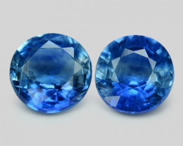 2.29 Cts 2 Pcs Fancy Royal Blue Color Natural Kyanite Gemstone