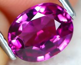 Grape Garnet 1.38Ct VS2 Oval Cut Natural Grape Umbalite Garnet B1108