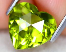 Peridot 1.78Ct VS Heart Cut Natural Neon Green Color Peridot A1110