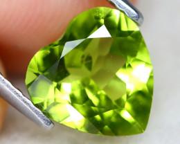 Peridot 1.53Ct VS2 Heart Cut Natural Neon Green Color Peridot B1111