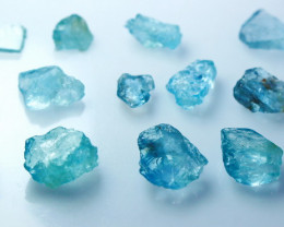 56.50 CT Natural - Unheated Blue Aquamarine Rough Lot