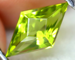 Peridot 1.25Ct VVS Master Cut Natural Neon Green Color Peridot AT1054