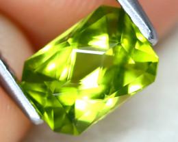 Peridot 1.13Ct VVS Master Cut Natural Neon Green Color Peridot AT1055