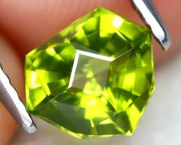 Peridot 1.28Ct VVS Master Cut Natural Neon Green Color Peridot AT1058