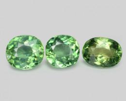3.90 Cts 3 Pcs Un Heated Natural Green Apatite Loose Gemstone