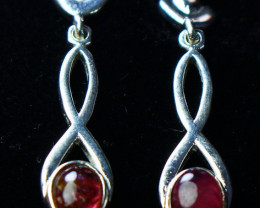 17.60 CT  Natural~ Unheated Pink Tourmaline Earrings
