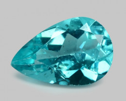1.10 Cts Un Heated Natural Blue Apatite Loose Gemstone