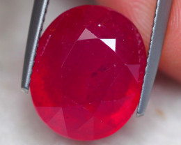 9.49Ct Blood Red Color Ruby Oval Cut Lot V8009