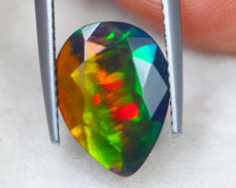 2.69ct Natural Ethiopian Welo Solid Smoked Faceted Opal Lot V7811