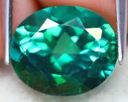 Green Topaz 6.44Ct VS2 Oval Cut Natural Green Topaz A1207