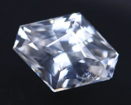 White Zircon 1.33Ct VVS Master Cut Natural Cambodian White Zircon AT1066