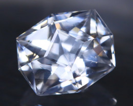 White Zircon 1.78Ct VVS Master Cut Natural Cambodian White Zircon AT1070