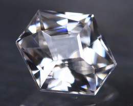 White Zircon 1.06Ct VVS Master Cut Natural Cambodian White Zircon AT1072