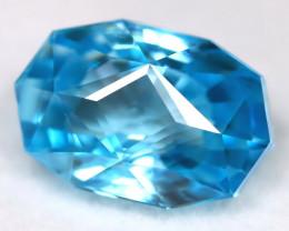 Blue Zircon 3.53Ct VVS Master Cut Natural Cambodian Blue Zircon AT1078