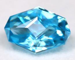 Blue Zircon 2.97Ct VVS Master Cut Natural Cambodian Blue Zircon AT1080