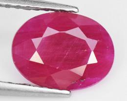 1.45 Cts Pinkish Red Natural Ruby BURMA  Loose Gemstone