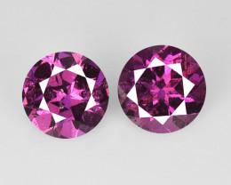 1.21 Cts 2 Pcs Unheated Natural Pink Rhodolite Garnet Gemstones