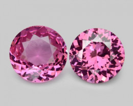 0.58 Cts 2 Pcs Un Heated Very Rare Pink Color Natural Spinel Gemstone