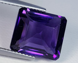 11.43 ct  Top Quality Gem Superb Octagon Cut Natural Purple Amethyst