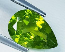 3.10 ct Top Quality Gem  Pear Cut Top Luster Natural Peridot