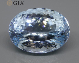 19.57ct Oval Aquamarine GIA Certified