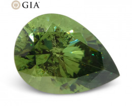 2.08ct Pear Demantoid Garnet GIA Certified