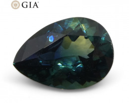 1.92ct Pear Teal Blue Sapphire GIA Certified Nigeria Unheated