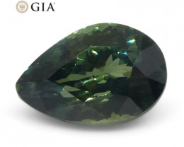 1.31ct Pear Bluish Green Teal Sapphire GIA Certified Unheated