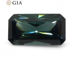 1.18ct Octagonal/Emerald Cut Teal Blue Sapphire GIA Certified Unheated