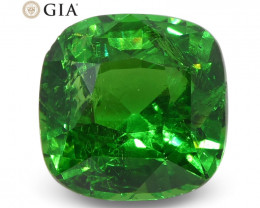 2.61ct Cushion Tsavorite Garnet GIA Certified