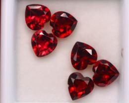 5.52ct Natural Rhodolite Garnet Heart Cut Lot P323