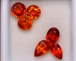4.93ct Natural Orange Garnet Mix Cut Lot P327
